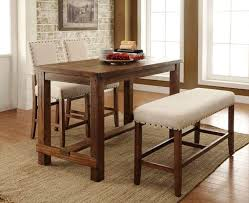 Image Of Rustic Bar Height Dining Table
