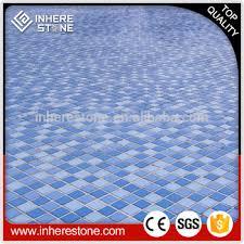 Natural Stone Mosaic Floor Tile Blue Swimming Pool Flooring