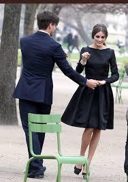 2017 olivia palermo elegant black dresses jacquard long sleeve