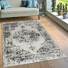designer rug vintage look grey