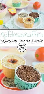 gesunde baby apfelmusmuffins