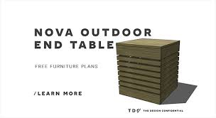 free diy furniture plans how to build a nova outdoor end table