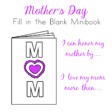 Mothers Day Bible Minibook