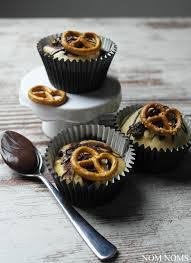nutella muffins with salty pretzels nom noms food