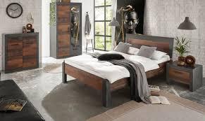 schlafzimmer komplett ward in used wood shabby design mit matera grau komplettzimmer mit bett kleiderschrank kommode und nachttisch