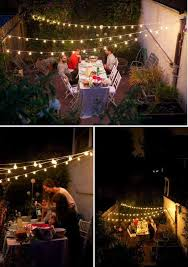 Hanging Christmas Lights Outside Astonishing Tree 15 Outdoor Spaces Garden Interior Design 38