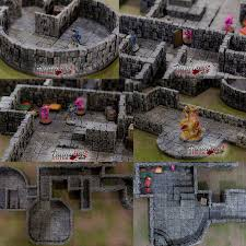 3d Dungeon Tiles Kickstarter by Rampage 3d Printable Scenery Building System Indiegogo