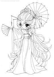 Cute Anime Coloring Pages Elegant Chibi Girl Free Mocape