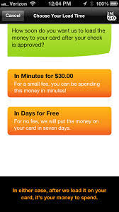 e minute it s a check a few minutes later it can be money on your prepaid card