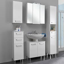 badezimmer möbel serie warschau 66 in weiß glänzend selbst zusammenste