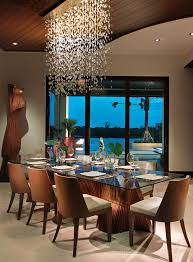 Expensive Chandeliers Tropical Dining Room And Crystal Dramatic Lighting Elephant Ear Glass Table Sliding
