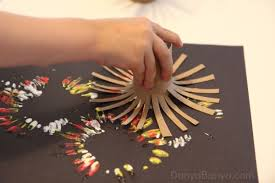 Simple Paper Turkey Kids Thanksgiving Craft Fireworks Painting Using Diy Toilet Roll Stampers