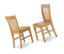 Set Of 6 Norfolk Dinette Kitchen Dining Chairs With Wood Seat In Light Oak