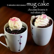 2 mins microwave mug cake brownie velvet