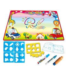 Tapis Coloriage Magnetic Planche à Dessin Peinture Enfants Créativité Eau Toile Jouet Girafe Motif 8657cm