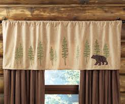 Woodland Rustic Curtains Window Valance Theme Style