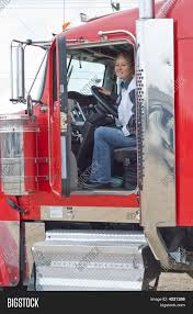 100 Female Truck Driver Interior View Big Rig Image Photo Free Trial Bigstock