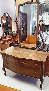 wonderful quartered oak quarter sawn vanity dresser 3 mirrors