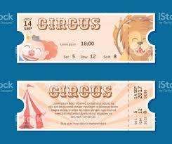 Circus Show Entrance Tickets Templatecolorful Horizontal Vector
