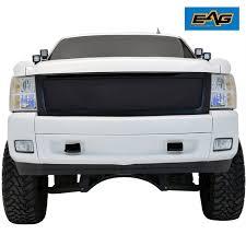 Amazon.com: EAG 07-13 Chevy Silverado 1500 Wire Mesh Grille Black ...