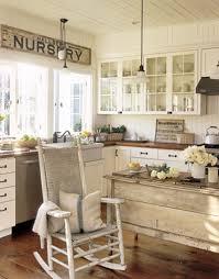 Kitchen Diy Vintage Decor For Kitchen With Wooden Furniture