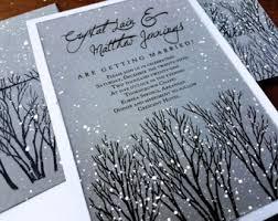 Winter Wedding Invitations Rustic Wonderland Gray