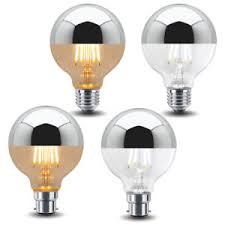 4w led g80 crown silver light bulb unique mirror top style b22 or