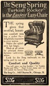 1910 Ad Seng Spring Turkish Rocker Easy Chair Furniture - ORIGINAL ... Vintage Studio Made Rocking Chair For Sale At 1stdibs Wooden Upholstered Platform Rockers Antique Chairs 1900s All Modern Or Spring Rocking Chair Collectors Weekly Antiques Restoration 1878 Glider 10 Steps With Bentleys Fniture Of Closed Attic Midcentury Rattan For Sale Pamono Teetertot Wooden Toy Vintage Nursery Rocker Etsy Childs Spring Rocker Red Find Fniture From All Eras Arriving Daily At New Uses Rare The Oldest Ive Ever Seen Parker Knoll 1960s Design Market