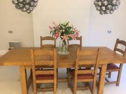 Solid French Oak Dining Table And 6 Chairs