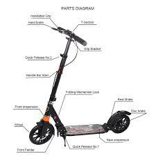 Kick Scooter Parts Diagram