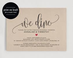 Rehearsal Dinner Invitation Printable Wedding PDF Instant Download