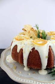 Rosemary Lemon Bundt Cake with Goat Cheese Frosting