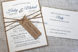 14 Unique Country Chic Wedding Invitations