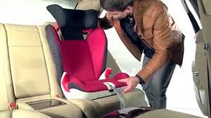 fixer siege auto installation du siège auto kidfix sl groupes 2 et 3 de römer