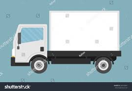 Delivery Small Truck Flat Style Stock Vector (Royalty Free ...