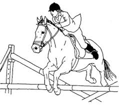 Jumping Horse Coloring Page