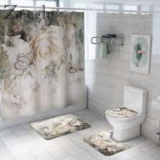 floral badezimmer mat set bad matte und dusche vorhang set