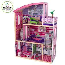 Buy Kidkraft Wooden Modern Dream Glitter Dollhouse Fits Barbie
