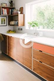 mid century style kitchen wood wire bespoke plywood