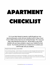 Printable Apartment Checklist 13