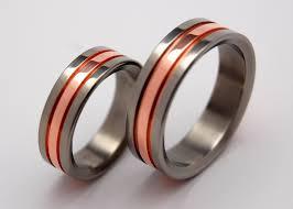 wedding rings titanium & copper Wedding Accessories