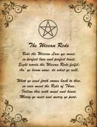 The Witches Rede Used To Remind That All Spellwork Does Have Consequences Whether They