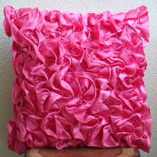 Decorative Couch Pillow Covers by Vintage Fuchsia Throw Pillow Covers 16x16 Inches Satin Pillow