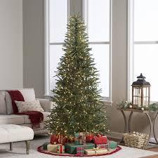 Slim Flocked Artificial Christmas Trees by Astonishing Decoration Slim Pre Lit Christmas Tree Shop Vickerman