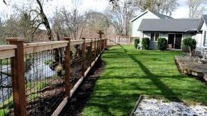 Decorative Garden Fence Panels by Cedar U0026 Black Bull Panel Fence Youtube