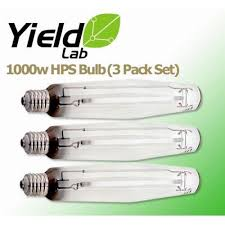 yield lab 1000 watt hps grow light bulb 3 pack grow light central