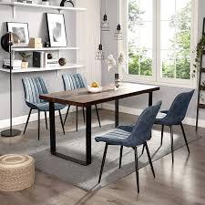 polsterstuhl mit metallbeinen arbeitszimmer blau ldc090q01