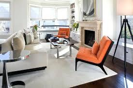 orange rug living room orange accent chair living room