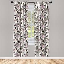 gardine fensterbehandlungen 2 panel set für wohnzimmer schlafzimmer dekor abakuhaus jahrgang nostalgische blumenmuster kaufen otto