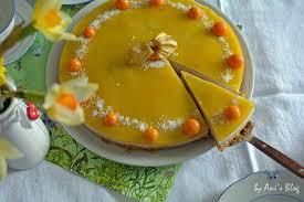 zuckerfreie karotten buttermilch torte mit mangopüree